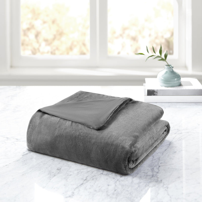 Bibb Home Weighted Blanket with Reversible Removable Cover Bed & Bath - DailySale