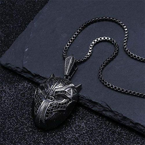 Black Panther Iced Out Crystal Pav'e Pendant Necklace Jewelry - DailySale