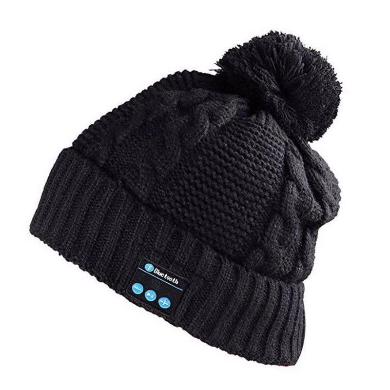 Bluetooth Pom-Pom Beanie - Assorted Colors Women's Apparel Black - DailySale