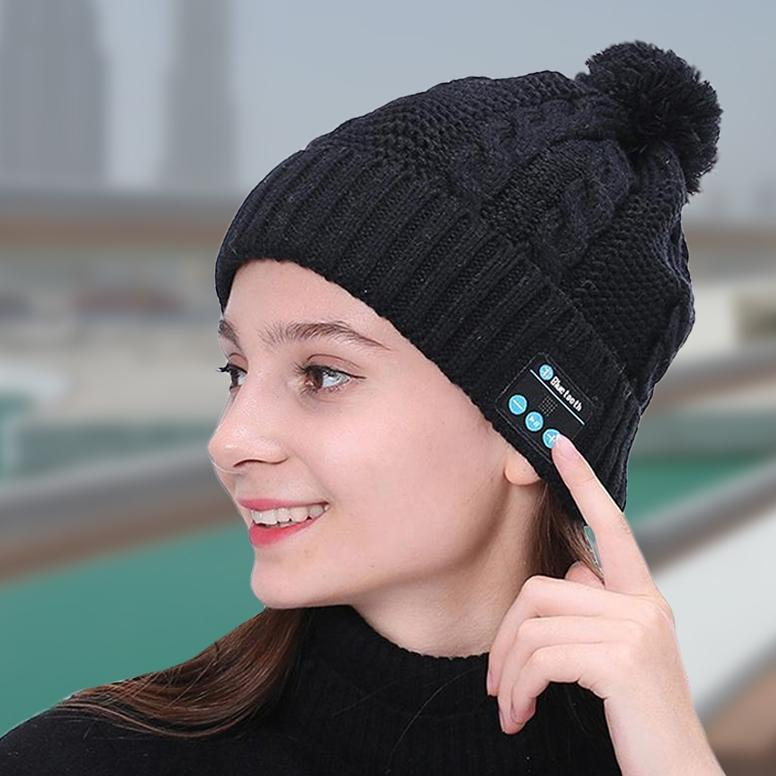 Bluetooth Pom-Pom Beanie - Assorted Colors Women's Apparel - DailySale
