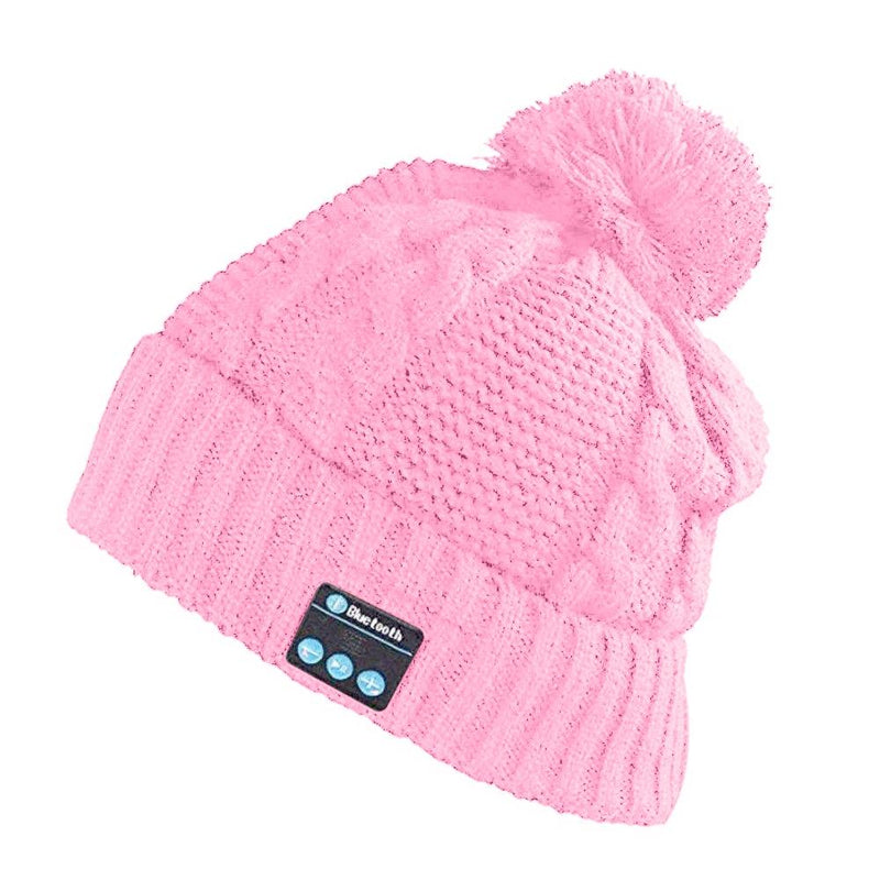 Bluetooth Pom-Pom Beanie - Assorted Colors Women's Apparel Pink - DailySale