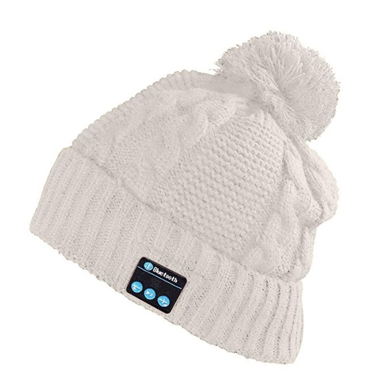 Bluetooth Pom-Pom Beanie - Assorted Colors Women's Apparel White - DailySale