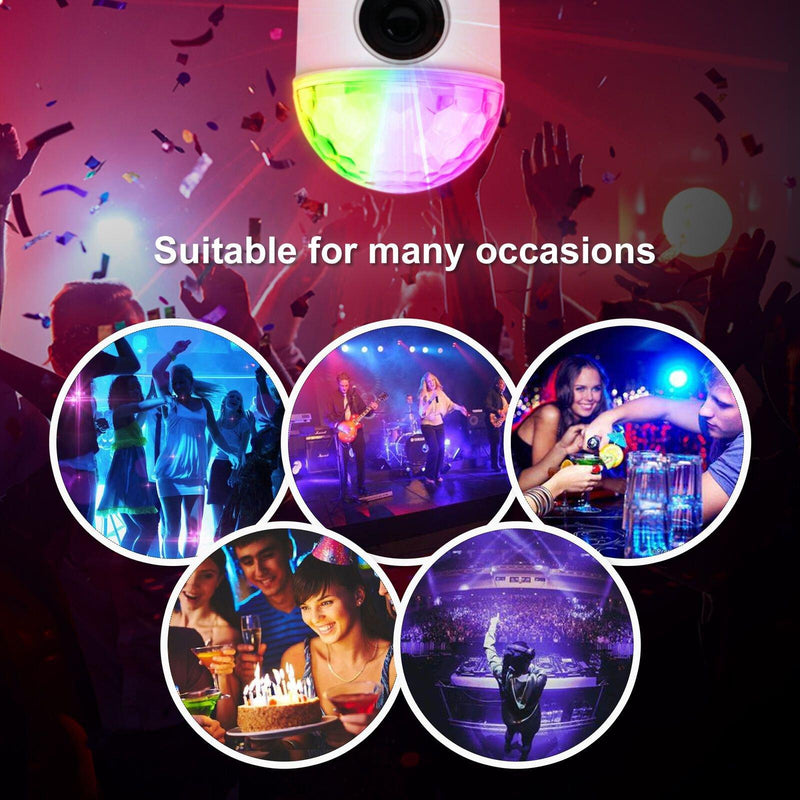 Bluetooth RGB Disco Party Light LED Stage Ball Light KTV Strobe DJ Activated Lamp Lighting & Decor - DailySale