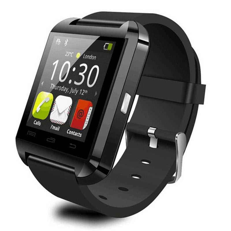 Bluetooth Smart Watch with Phone Pairing, Pedometer, Sleep Monitoring & More Gadgets & Accessories Black - DailySale