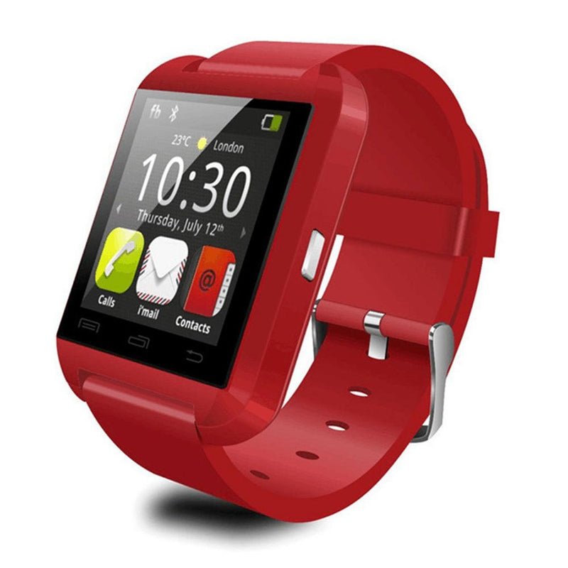 Bluetooth Smart Watch with Phone Pairing, Pedometer, Sleep Monitoring & More Gadgets & Accessories Red - DailySale