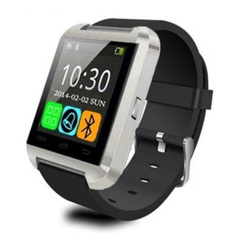 Bluetooth Smart Watch with Phone Pairing, Pedometer, Sleep Monitoring & More Gadgets & Accessories Silver - DailySale