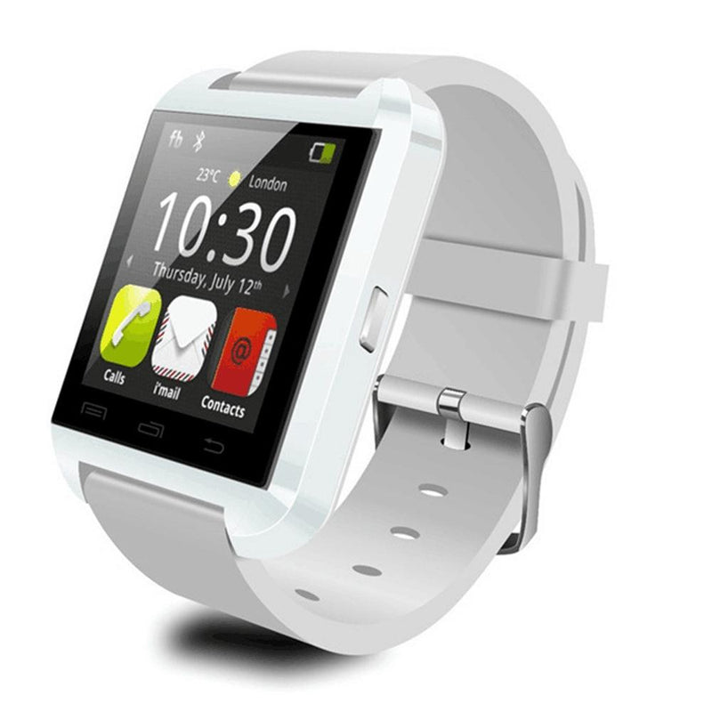 Bluetooth Smart Watch with Phone Pairing, Pedometer, Sleep Monitoring & More Gadgets & Accessories White - DailySale