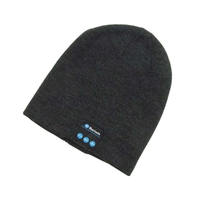 Bluetooth Wireless Winter Beanie Hat - Assorted Colors Women's Apparel Dark Gray - DailySale