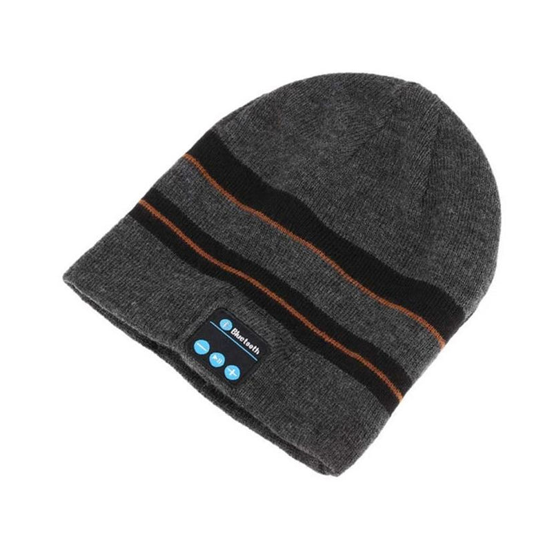 Bluetooth Wireless Winter Beanie Hat - Assorted Colors Women's Apparel Striped Gray - DailySale