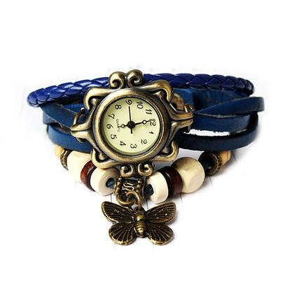 Boho Chic Vintage Inspired Handmade Butterfly Watch - Assorted Colors Women's Apparel Blue - DailySale