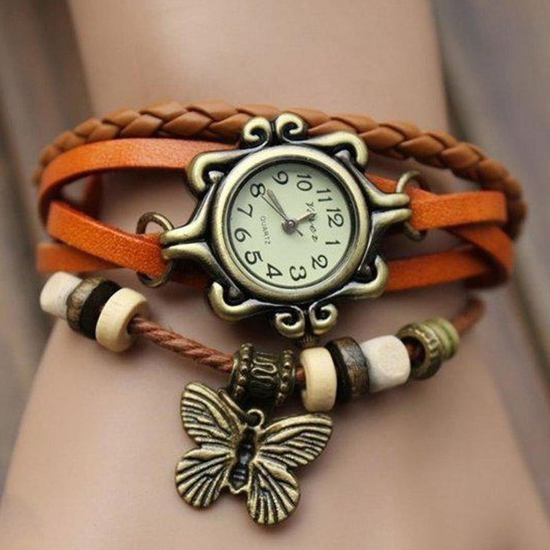 Boho Chic Vintage Inspired Handmade Butterfly Watch - Assorted Colors Women's Apparel - DailySale