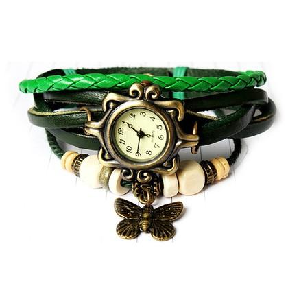 Boho Chic Vintage Inspired Handmade Butterfly Watch - Assorted Colors Women's Apparel Green - DailySale