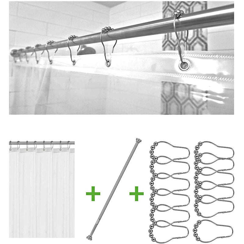 Bolford Shower Curtain & Rod Set Home Essentials - DailySale