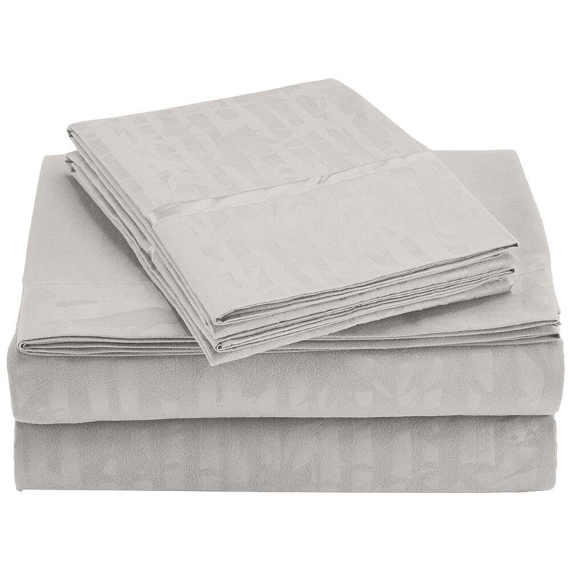 4-Piece Set: Super-Soft 1600 Series Bamboo Embossed Bed Sheet - DailySale, Inc
