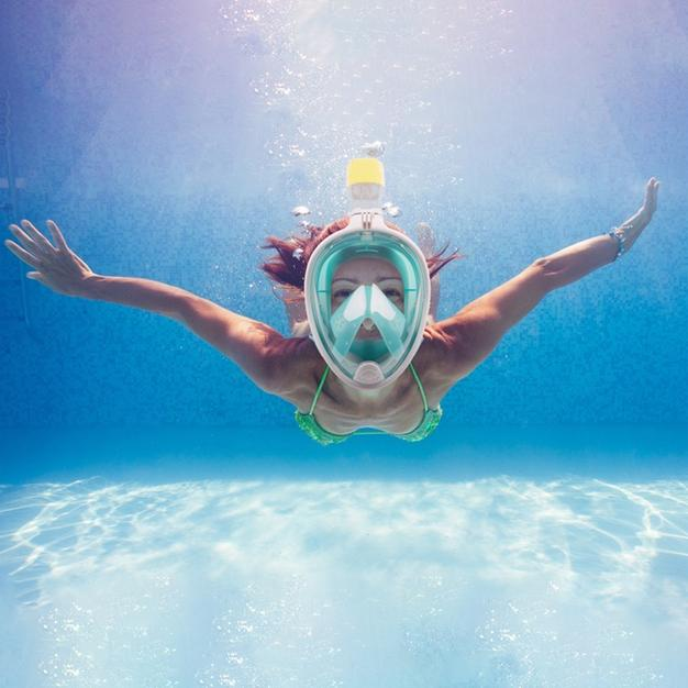 Breathefree GoPro Compatible Snorkel and Scuba Mask Sports & Outdoors - DailySale