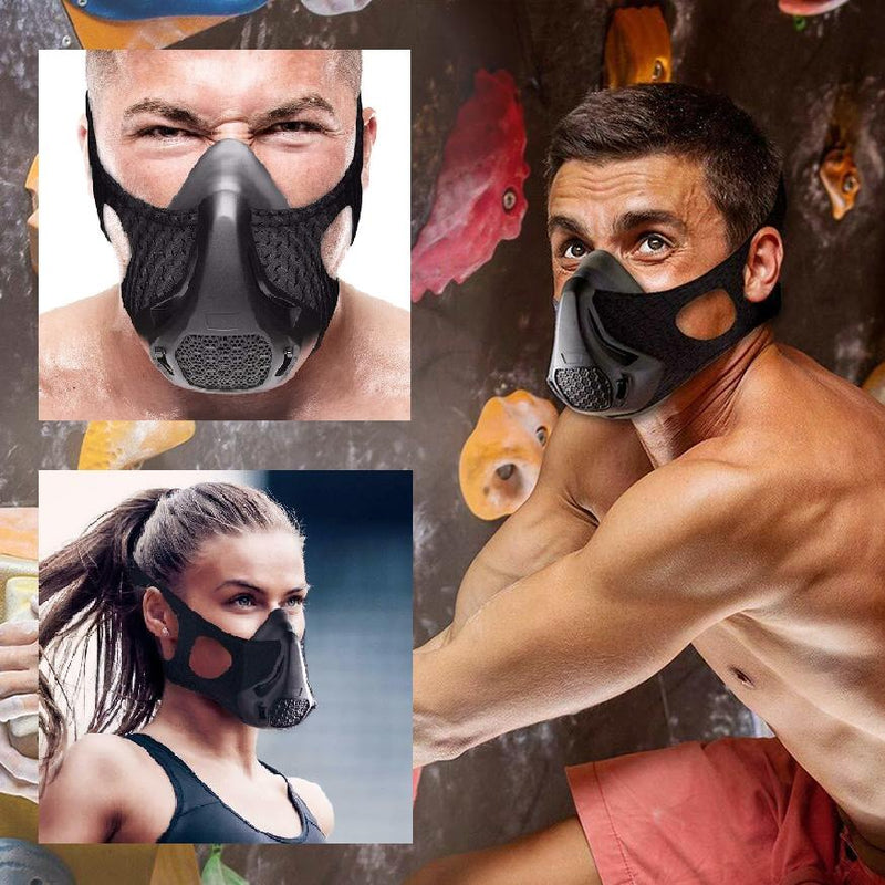 Breathing Resistance Training Mask for Sports and Workout Wellness & Fitness - DailySale