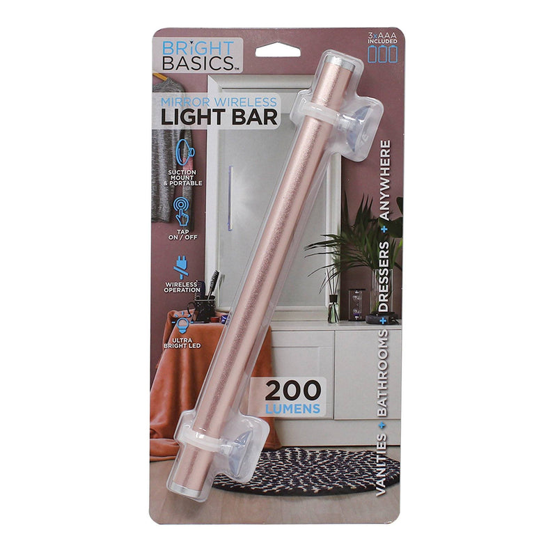 Bright Basics Wireless Light Bar for Mirrors