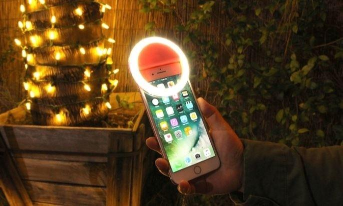 Bright Ring Rechargeable LED Selfie Light for All Phone Models - Assorted Colors Phones & Accessories - DailySale