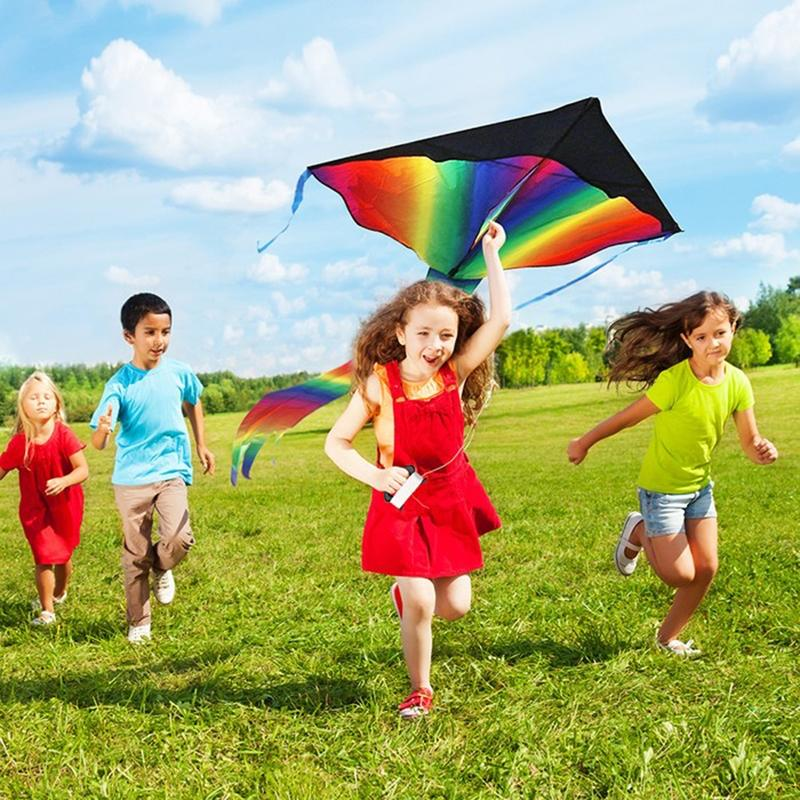 BritenWay Ripstop Polyester Fabric Extra Large Rainbow Kite Toys & Games - DailySale