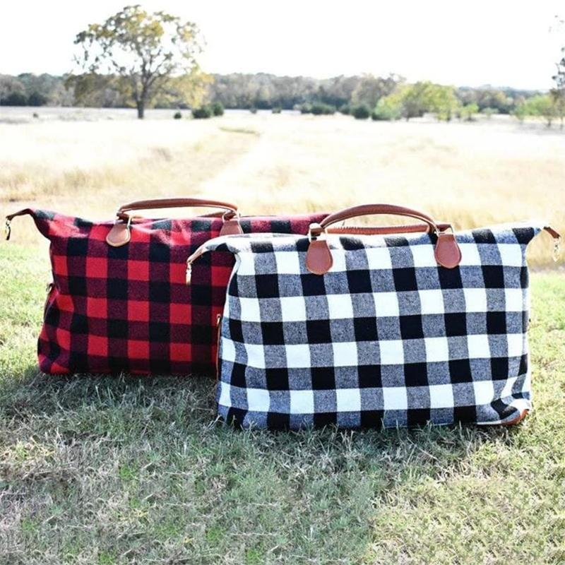 Buffalo Check Tote Weekender Bag Purse Handbags & Wallets - DailySale