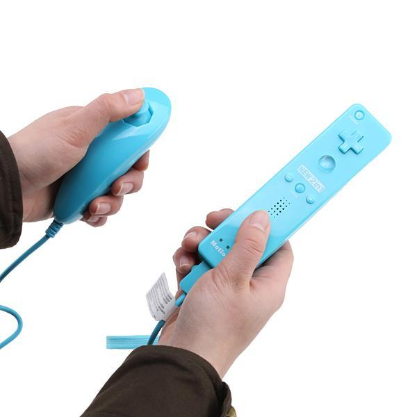Built-in Motion Plus Remote and Nunchuck Controller For Wii Video Games & Consoles - DailySale
