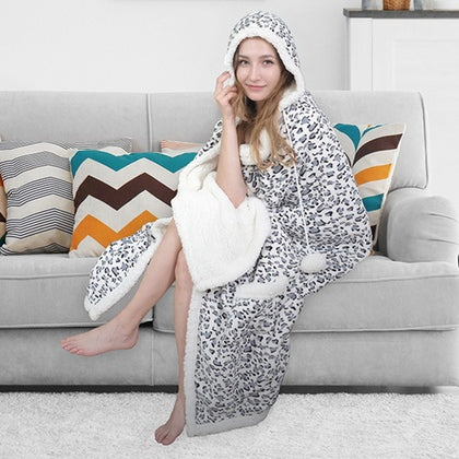 Chic Home Sherpa-Lined Hoodie Robe - DailySale, Inc