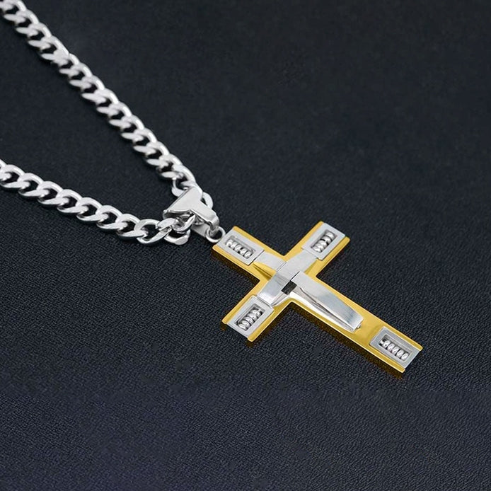 Men's Cross Necklaces in Stainless Steel - DailySale, Inc