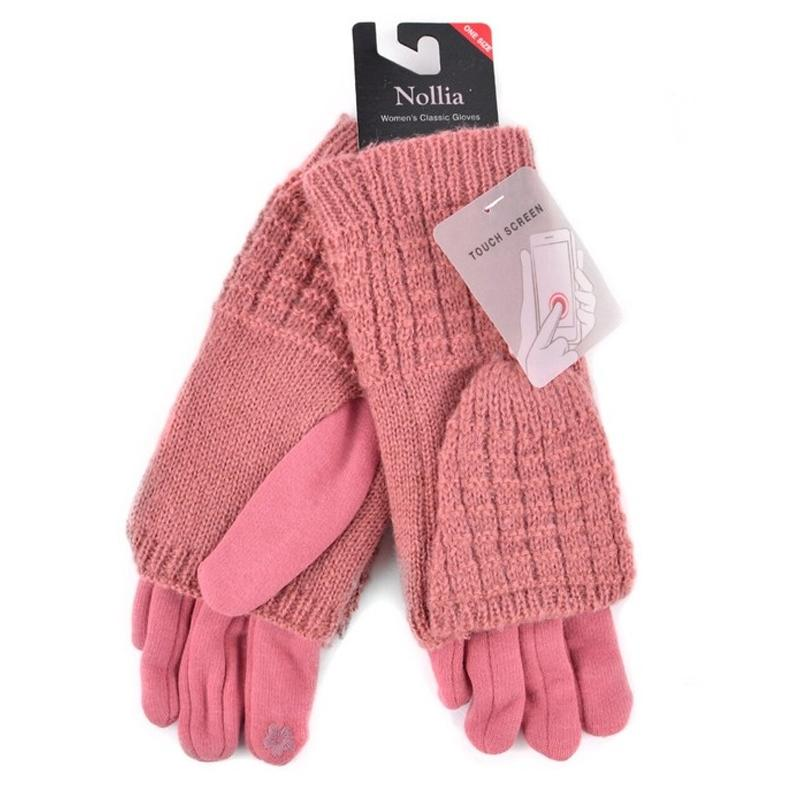 Cable Knit Women's Winter Cute Gloves Women's Apparel Pink - DailySale