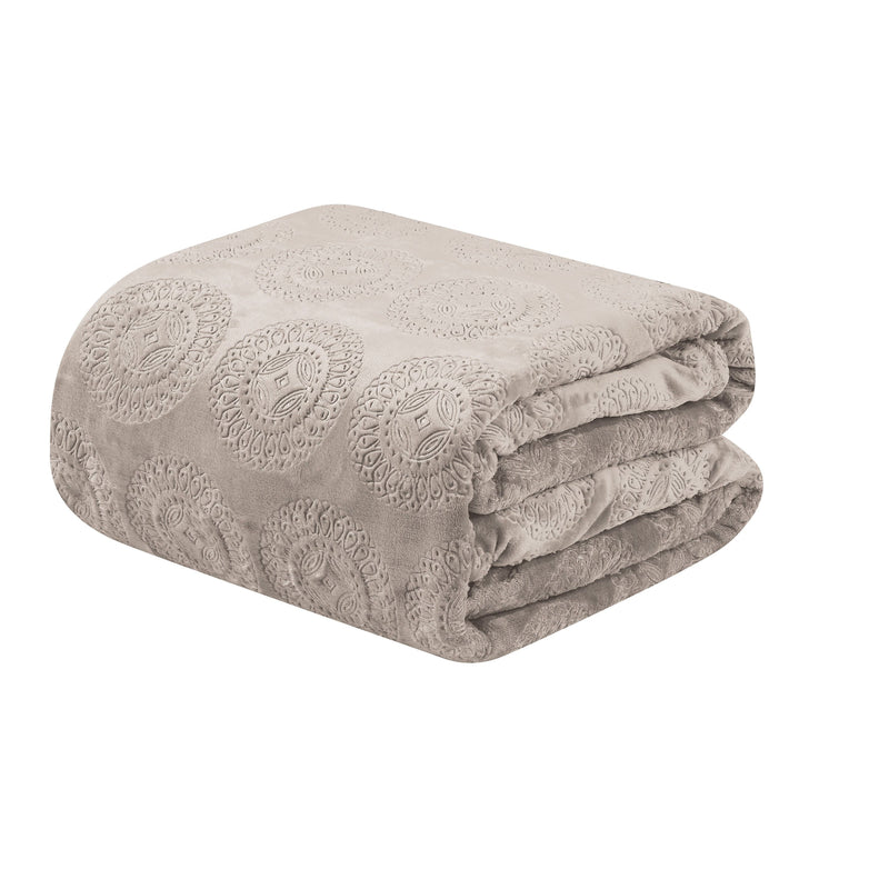 Caesar French Collection Flannel Fleece Blanket Bedding - DailySale
