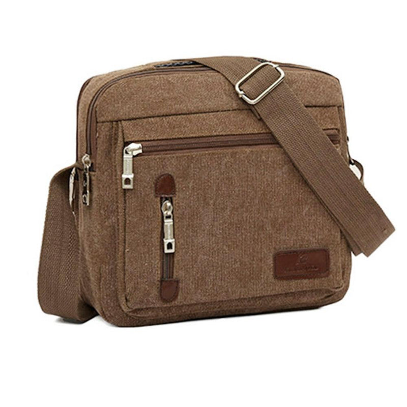 Canvas Cross-Body Totes - Assorted Colors Handbags & Wallets Brown - DailySale