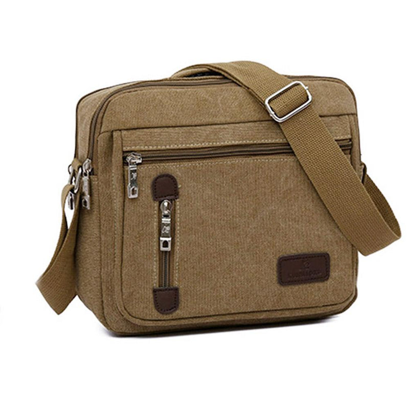 Canvas Cross-Body Totes - Assorted Colors Handbags & Wallets Khaki - DailySale