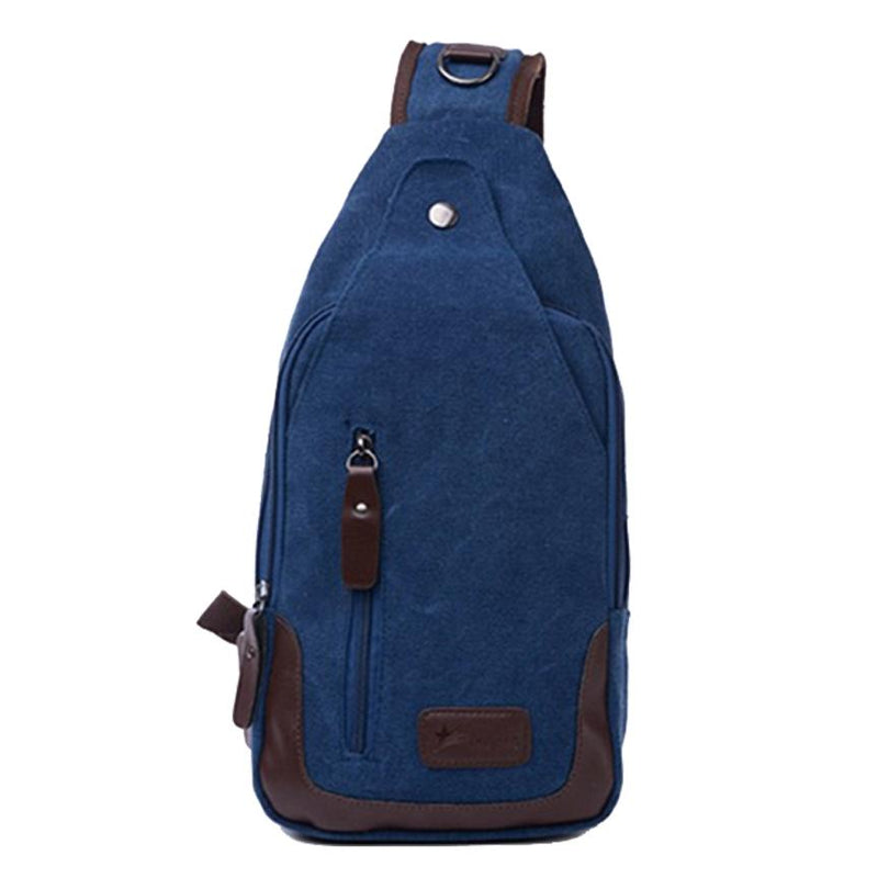 Canvas Shoulder Sling Bag - Assorted Colors Handbags & Wallets Blue - DailySale