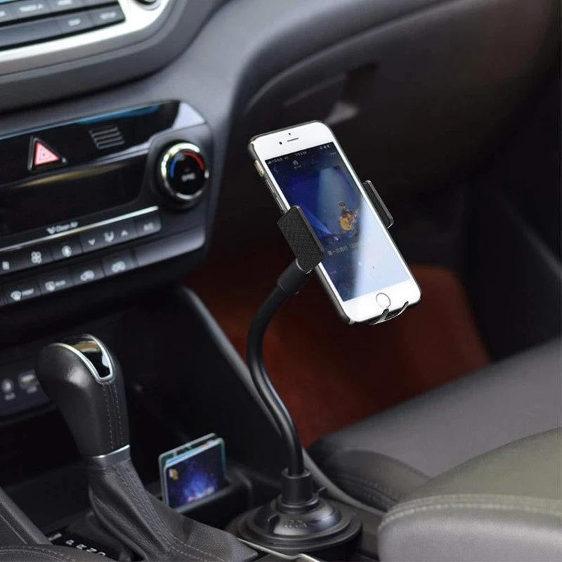 Car Cup Holder Phone Mount Adjustable Gooseneck Phone Stand Automotive - DailySale