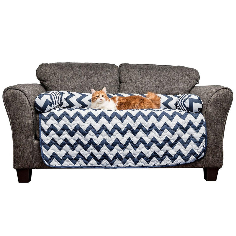 Chevron Reversible Quilted Pet Bed Chair Cover - Assorted Colors and Sizes Pet Supplies - DailySale