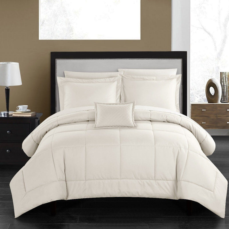 Chic Home Jordyn Minimalist Comforter Set Linen & Bedding - DailySale