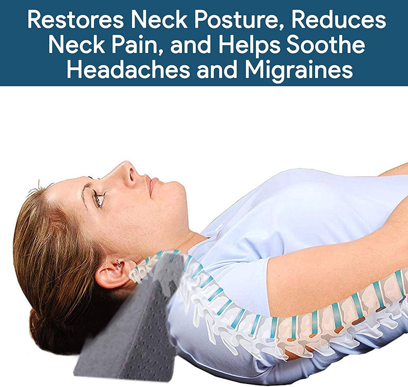 Chiropractic Cervical Traction Neck Wedge Pillow Wellness & Fitness - DailySale