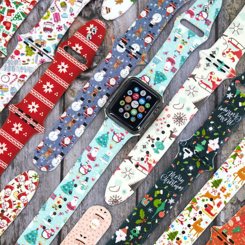 Christmas Silicone Apple Watch Bands - Assorted Styles Mobile Accessories - DailySale