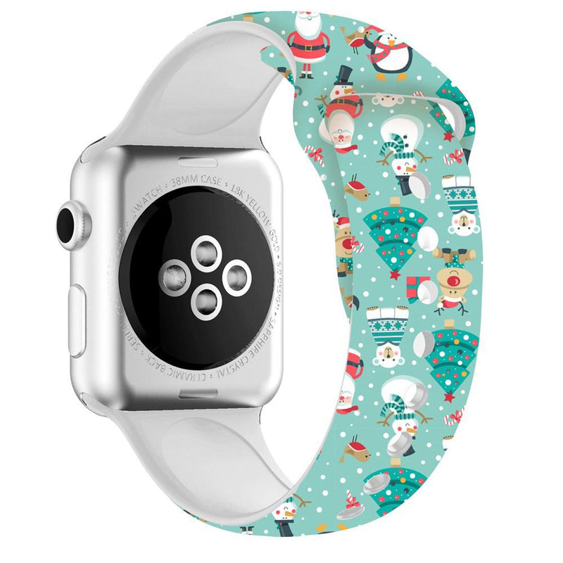 Christmas Silicone Apple Watch Bands - Assorted Styles