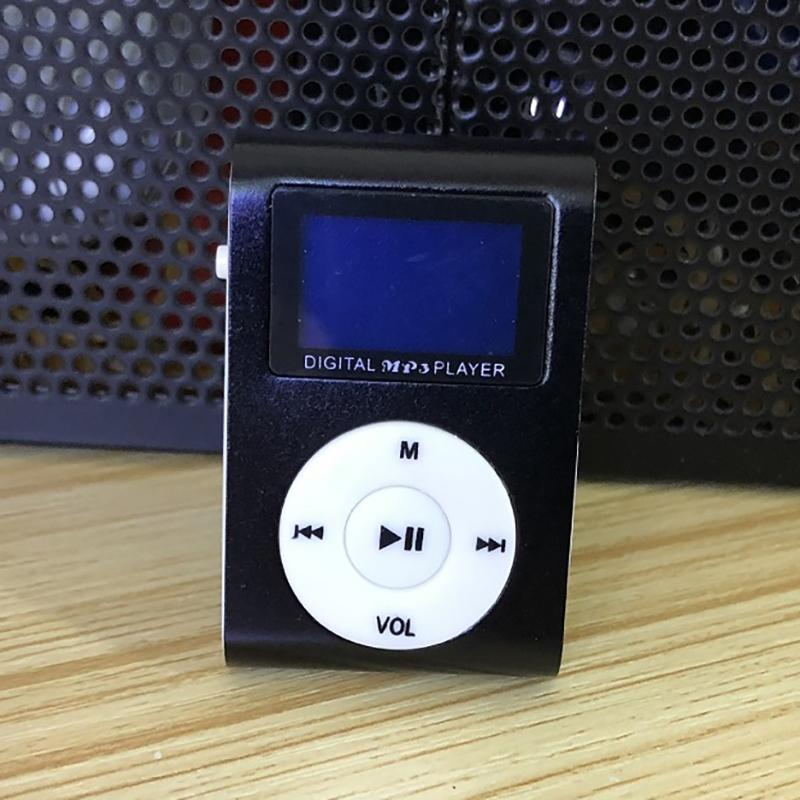 Clip-On Mini MP3 & FM Music Player Gadgets & Accessories Black - DailySale