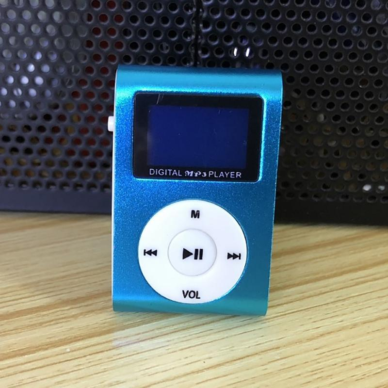 Clip-On Mini MP3 & FM Music Player Gadgets & Accessories Blue - DailySale
