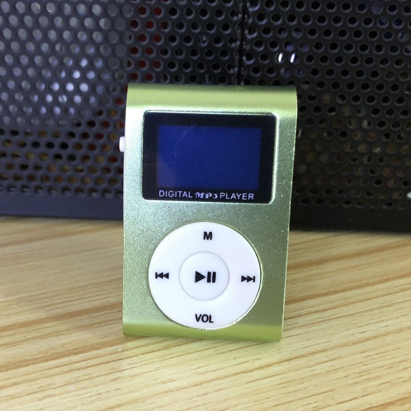 Clip-On Mini MP3 & FM Music Player Gadgets & Accessories Green - DailySale