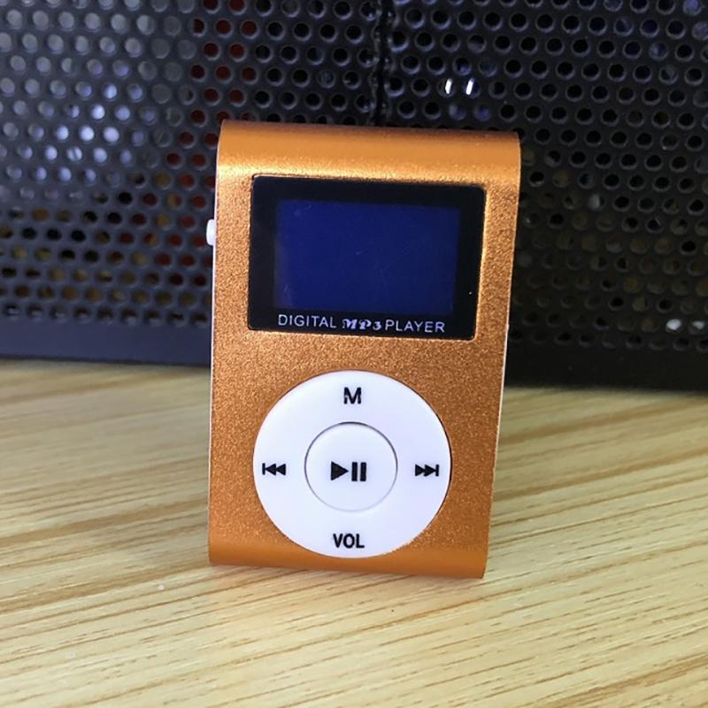 Clip-On Mini MP3 & FM Music Player Gadgets & Accessories Orange - DailySale