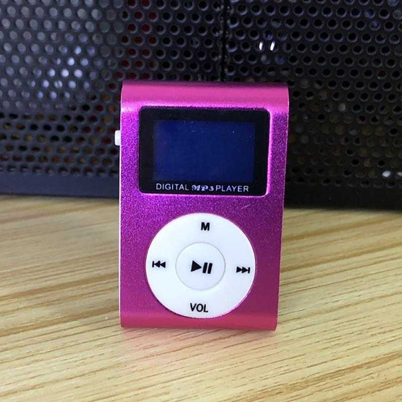 Clip-On Mini MP3 & FM Music Player Gadgets & Accessories Pink - DailySale