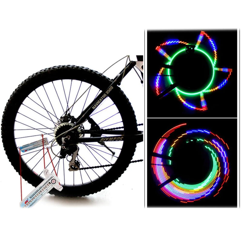 Colorful Rainbow 32 LED Wheel Signal Lights for Cycling Bikes Bicycles Outdoor Sports & Outdoors - DailySale