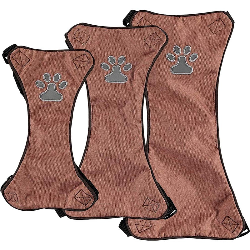 Comfort Soft Adjustable Harness Outer Vest with Soft Handle Pet Supplies L Brown - DailySale