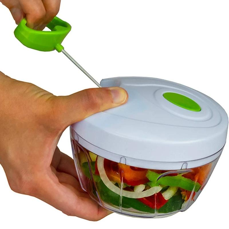 Compact & Powerful Hand Held Vegetable and Fruit Chopper and Slicer Kitchen Essentials - DailySale