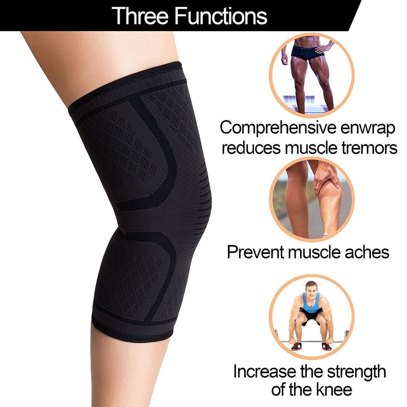 Compression Knee Sleeve - Assorted Colors and Sizes Wellness & Fitness - DailySale