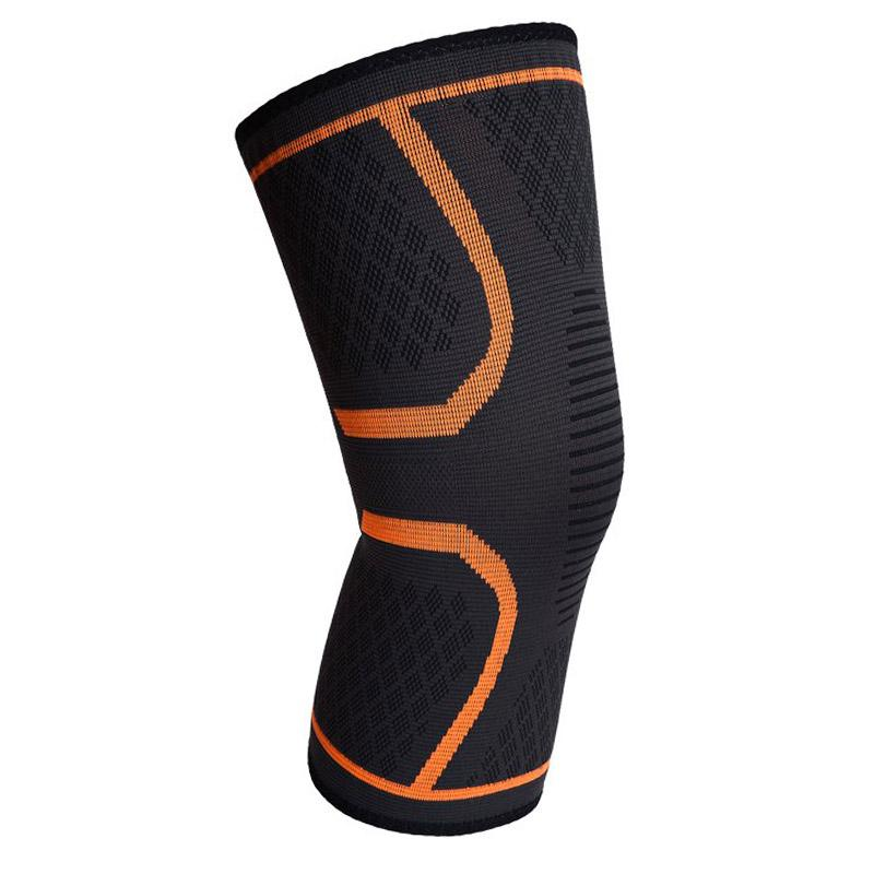 Compression Knee Sleeve - Assorted Colors and Sizes Wellness & Fitness S Orange - DailySale