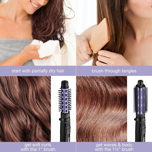Conair Volume 2-in-1 Hot Air Brush Beauty & Personal Care - DailySale