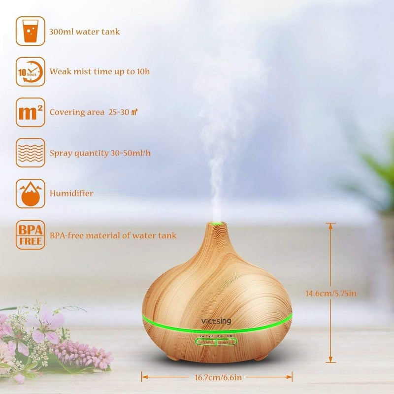 Cool Mist Humidifier Ultrasonic Aromatherapy Diffuser Wellness & Fitness - DailySale